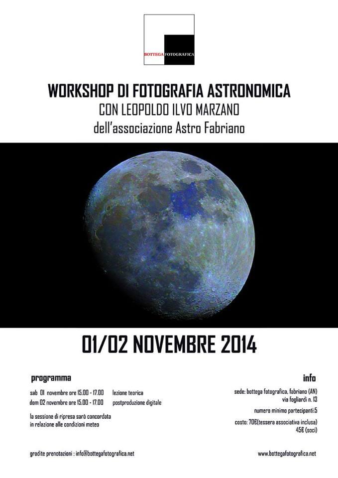 Workshop di fotografia astronomica
