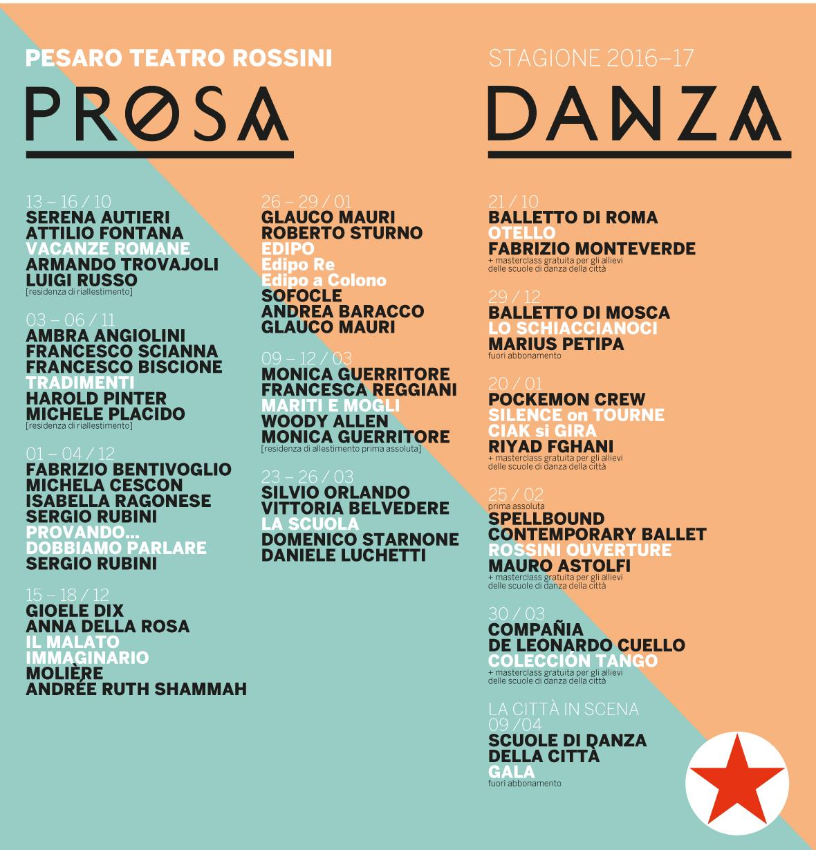 prosa e danza a Pesaro